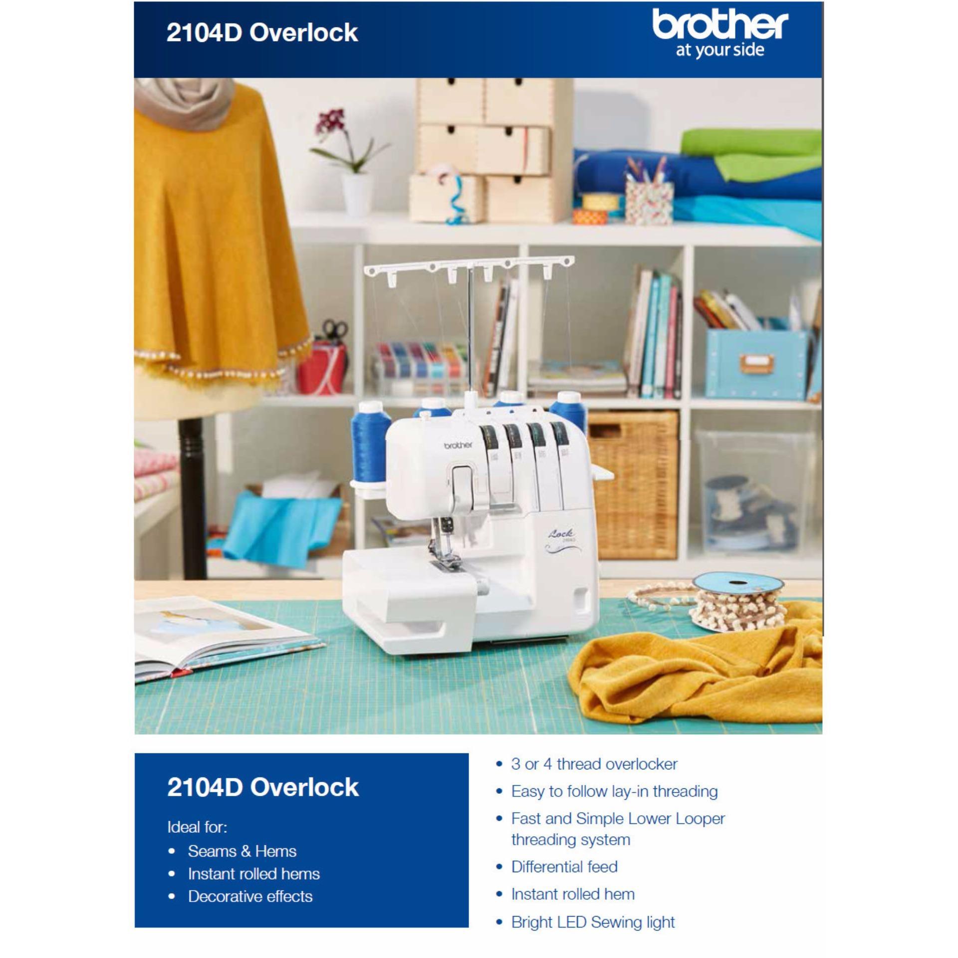 Máy Vắt Sổ Brother 2104D - Trắng