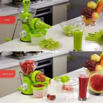 Máy xay ép trái cây đa năng Manual juicer 2 trong 1(Trắng phối (Xanh)