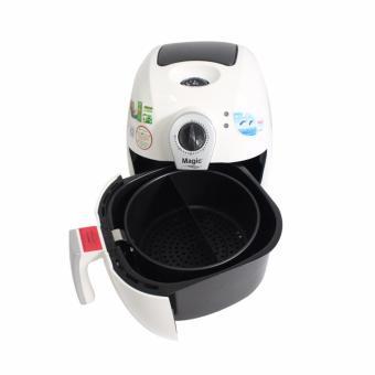 Nồi chiên chân không đa năng Magic Korea A71 2.2L (Trắng) + Tặng hộp nấu và hâm nóng cơm lồng Inox 3 tầng