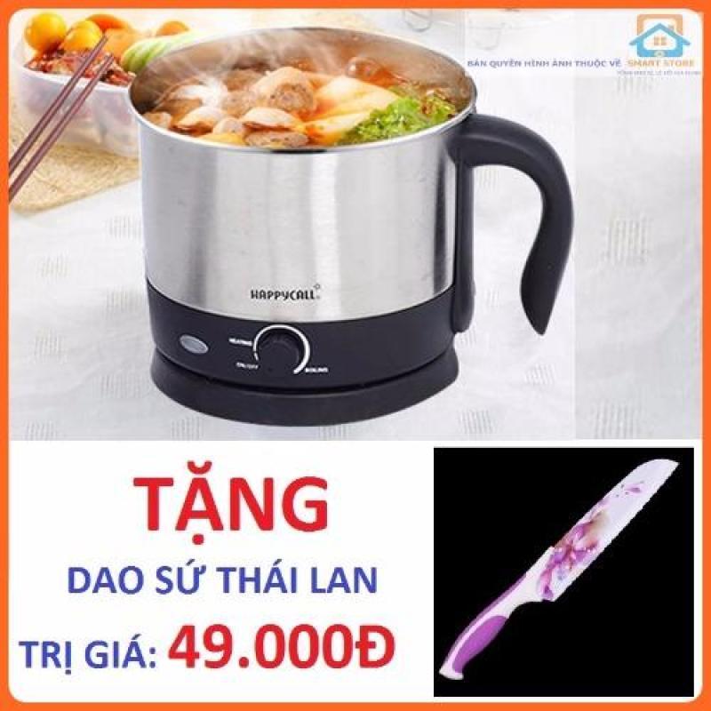 Nồi điện mini HappyCall 1.5l + Tặng Dao sứ Thái Lan