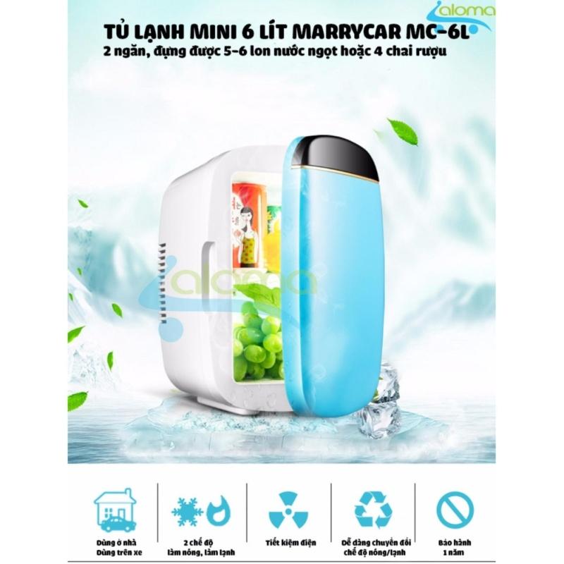 Tủ lạnh mini 2 chế độ nóng lạnh 6 lít MarryCar MR-TL6L