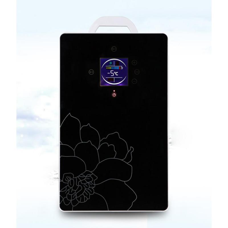 Tủ lạnh mini di động 16L màn LED - điều chỉnh nhiệt độ tự động (Đen)