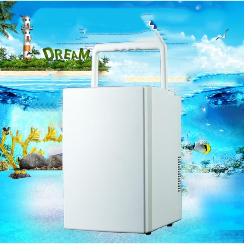 Tủ lạnh mini di động 18L gia đình và trên xe hơi (Trắng)