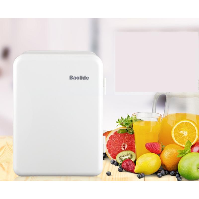 Tủ lạnh mini đựng mỹ phẩm Bolidet nguồn điện 220V và 12V (Trắng)