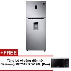 Tủ lạnh Samsung hai cửa Twin Cooling Plus RT35K5982S8/SV 322L +  Tặng Lò vi sóng điện tử Samsung ME731K/XSV 20L (Đen) chính hãng