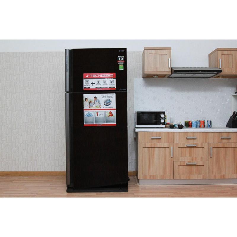 Tủ lạnh Sharp 585 lít SJ-XP590PG-BK (Đen)