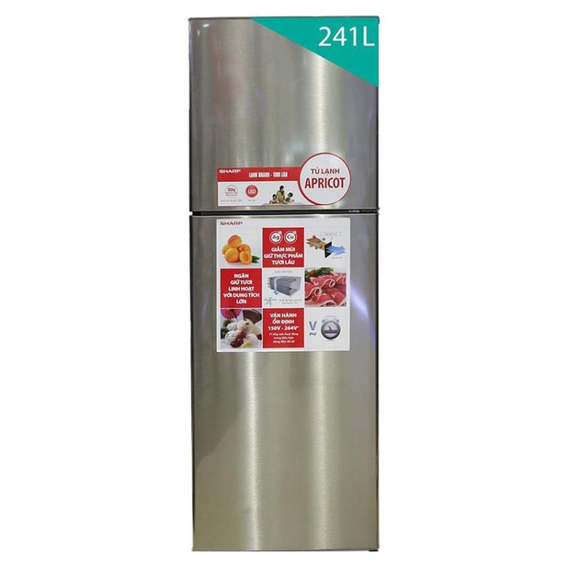 Tủ lạnh Sharp Mango SJ-S280E-SL 271L (Màu bạc giống Inox)