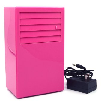 Vococal Multi-Functional Portable Desk Mini Air Cooling Fan withAir Purifier Spray Cooling (Pink)