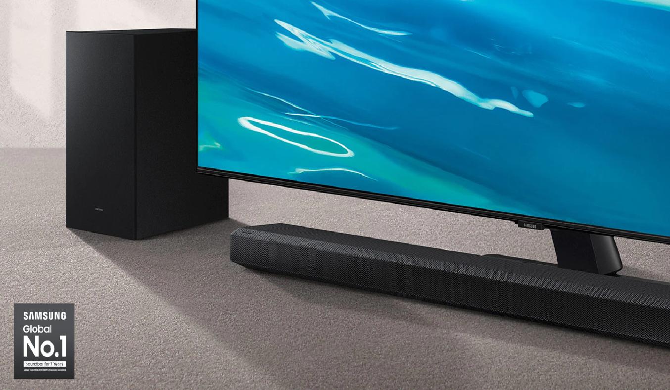 Loa soundbar Samsung 3.1.2ch HW-Q700A XV Công nghệ Q-symphony, tích hợp  HDMI-eARC, HDMI, kết nối TV qua Wifi, Bluetooth, hỗ trợ kết nối Spotfify,  hỗ trợ ứng dụng Smart Things - giao
