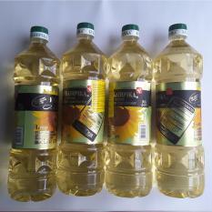04 chai Dầu ăn hướng dương nhập khẩu từ CHLB Nga KUBANOCHKA 01Lít -NPP HS shop