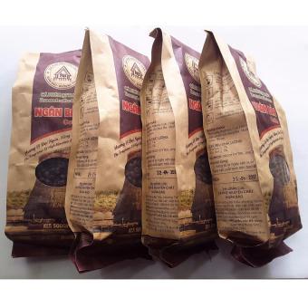 04 Túi(2kg) Cà phê hạt rang nguyên chất Ngân Bảo(HạtRobusta,Arabica,Culi) 500gr -NPP HS shop