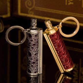 Bật lửa diêm chịu nước quẹt bằng xăng cao cấp kiêm móc chìa khóa độc đáo Honest F237 (Xám)