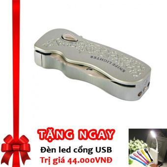 Bật lửa khò LX4 kiêm dao bấm chuyên dụng có chốt an toàn F551 (Bạc) + Tặng đèn LED cổng USB - 8660508 , OE680WNAA4W35HVNAMZ-9014000 , 224_OE680WNAA4W35HVNAMZ-9014000 , 260000 , Bat-lua-kho-LX4-kiem-dao-bam-chuyen-dung-co-chot-an-toan-F551-Bac-Tang-den-LED-cong-USB-224_OE680WNAA4W35HVNAMZ-9014000 , lazada.vn , Bật lửa khò LX4 kiêm dao bấm chuy
