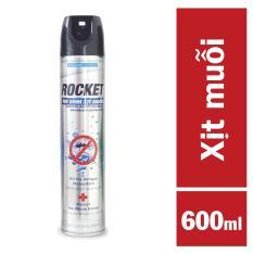 Bình Xịt Muỗi Rocket Không Mùi (600ml)