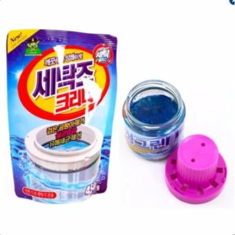 Bộ 1 gói bột tẩy lồng máy giặt 450Gr và 1 chai thả vệ sinh bồn cầu Hàn Quốc