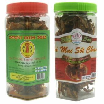 Bộ 1 hộp cá mai sốt chanh 110g + 1 hộp Mực rim đặc sản Phan Thiết loại hảo hạng 250g