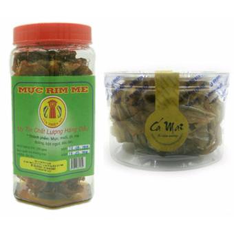Bộ 1 hộp Mực rim me đặc sản Phan Thiết loại hảo hạng 250g + 1 hộp cá mai xẻ tẩm nướng 60g