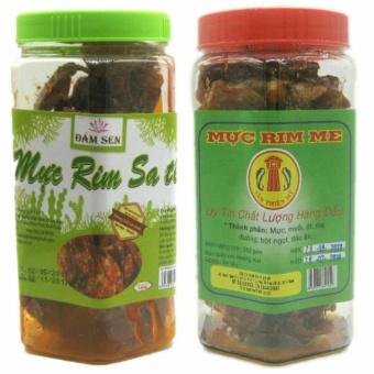Bộ 1 hộp mực rim sa tế 150g + 1 hộp Mực rim đặc sản Phan Thiết loại hảo hạng 250g