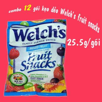 Bộ 12 gói Kẹo Dẻo Welch's Fruit Snacks Mỹ 25.5G
