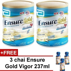 Bộ 2 Ensure Gold hương vani ít ngọt 850g + Tặng 3 chai Ensure Gold Vigor 237ml