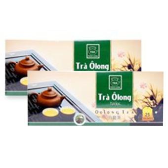Bộ 2 hộp Trà Olong Túi Lọc Phúc Long Hộp 50g ( 25 gói x 2g )