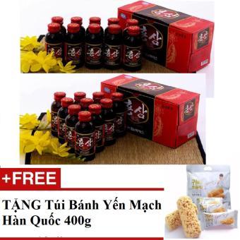 Bộ 20 Chai Nước Uống Hồng Sâm Gold Hàn Quốc 100ml/chai + TẶNG TúiBánh Yến Mạch 400g/túi Hàn Quốc - 8174666 , HA480WNAA6F5KLVNAMZ-11837600 , 224_HA480WNAA6F5KLVNAMZ-11837600 , 320000 , Bo-20-Chai-Nuoc-Uong-Hong-Sam-Gold-Han-Quoc-100ml-chai-TANG-TuiBanh-Yen-Mach-400g-tui-Han-Quoc-224_HA480WNAA6F5KLVNAMZ-11837600 , lazada.vn , Bộ 20 Chai Nước Uống Hồ