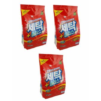 Bộ 3 gói bột giặt Sandokkaebi Hàn Quốc 800Gr