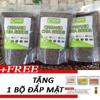 Bộ 3 gói hạt chia Hạt chia Organic Chia Seeds Australia 1kg + Tặng1 bộ đắp mặt nạ thiên nhiên199k - 10229046 , CH297WNAA31DJ4VNAMZ-5286033 , 224_CH297WNAA31DJ4VNAMZ-5286033 , 1000000 , Bo-3-goi-hat-chia-Hat-chia-Organic-Chia-Seeds-Australia-1kg-Tang1-bo-dap-mat-na-thien-nhien199k-224_CH297WNAA31DJ4VNAMZ-5286033 , lazada.vn , Bộ 3 gói hạt chia Hạt c