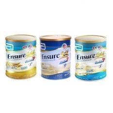 Bộ 3 hộp sữa Ensure Gold Vani, Hương Lúa Mạch, Ít Ngọt 850g