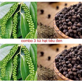 Bộ 3 túi Tiêu Đen Nhà Vườn Nguyên Hạt, Nguyên Chất, Thơm Ngon (200gr)