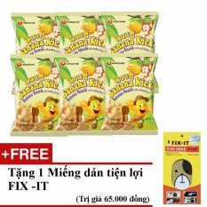 Bảng Báo Giá Bộ 6 gói bánh snack chuối nhập khẩu Hàn Quốc + Tặng miếng dán đa năng fit-it