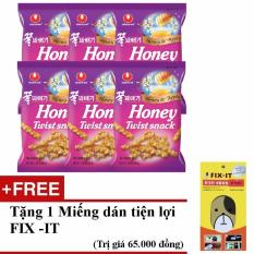 Báo Giá Bộ 6 gói bánh snack mật ong nhập khẩu hàn quốc + Tặng miếng dán đa năng fit-it