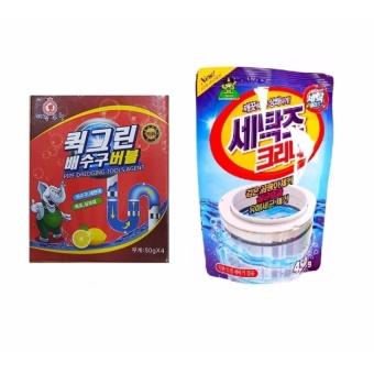 Bộ Túi Bột Tẩy Vệ Sinh Lồng Máy Giặt Hàn Quốc 450g + Túi Bột ThôngTắc Toilet Siêu Mạnh Hàn Quốc 100g - 8660866 , OE680WNAA5I8CNVNAMZ-10108582 , 224_OE680WNAA5I8CNVNAMZ-10108582 , 130000 , Bo-Tui-Bot-Tay-Ve-Sinh-Long-May-Giat-Han-Quoc-450g-Tui-Bot-ThongTac-Toilet-Sieu-Manh-Han-Quoc-100g-224_OE680WNAA5I8CNVNAMZ-10108582 , lazada.vn , Bộ Túi Bột Tẩy Vệ S