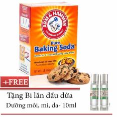 Bột Baking Soda 450g + Tặng Bi lăn dầu dừa dưỡng môi, mi, da