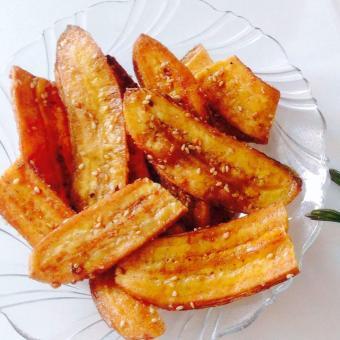 Chuối Lát Sấy Giòn có mè Gói ( 500Gr ), hương vị chuối tự nhiên