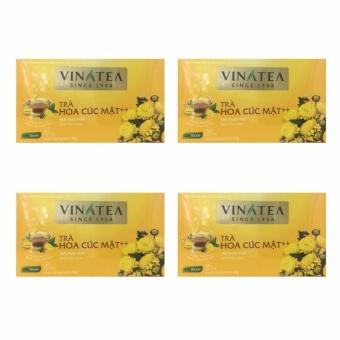 Combo 4 hộp Trà hoa cúc mật ong ++ túi lọc