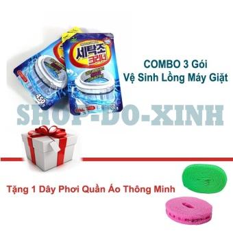 COMBO Bộ 3 Gói Bột tẩy lồng vệ sinh sạch sẽ máy giặt Hàn Quốc -Tặng 1 dây phơi quân áo thông minh - 8661262 , OE680WNAA67YV8VNAMZ-11478443 , 224_OE680WNAA67YV8VNAMZ-11478443 , 175000 , COMBO-Bo-3-Goi-Bot-tay-long-ve-sinh-sach-se-may-giat-Han-Quoc-Tang-1-day-phoi-quan-ao-thong-minh-224_OE680WNAA67YV8VNAMZ-11478443 , lazada.vn , COMBO Bộ 3 Gói Bột tẩ