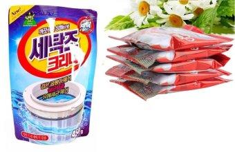 Combo Túi bột tẩy vệ sinh lồng máy giặt, khử mùi, diệt khuẩn + Bột thông tắc ống thoát nước