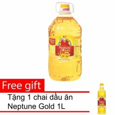 Dầu ăn Neptune Gold 5L + Tặng 1 chai dầu ăn Neptune Gold 1L