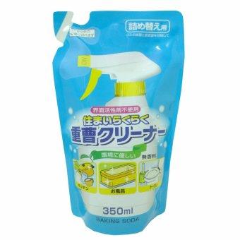 Dung dịch tẩy rửa baking soda RakuRaku - 350ml (dạng refill)