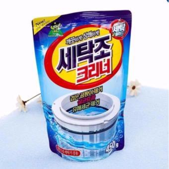Gói bột tẩy vệ sinh lồng máy giặt 450g HM283 + Tặng bàn chải cọ rửatiện dụng