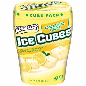 Kẹo gum thơm miệng hương chanh the mát IceBreakers IceCubes Cool Lemon 40 viên