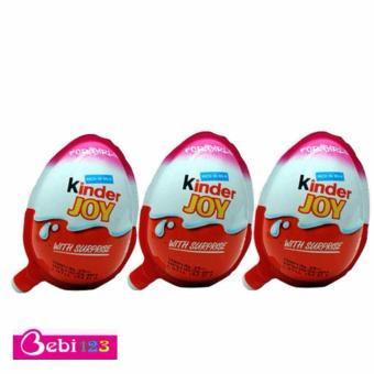 Bộ 3 Quả Trứng Socola Kinder Joy (Hồng)