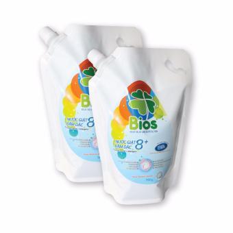 Bộ 02 túi Nước Giặt BIOS đậm đặc 8+ hương Pureness Incense 900g