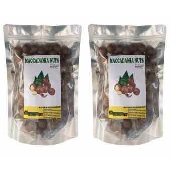 Bộ 2 túi macca nứt vỏ sấy khô tự nhiên 500gr