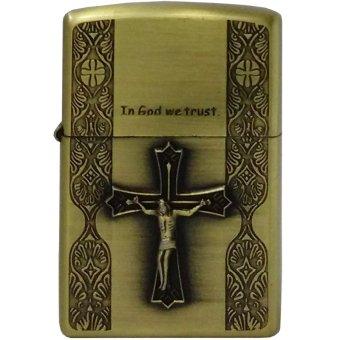 Bật Lửa Xăng In God We Trust 1 (Vàng Đồng)