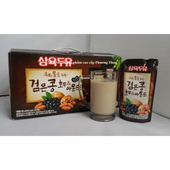 Thùng 20 bịch 195ml sữa óc chó, đậu đen, hạnh nhân Hàn Quốc