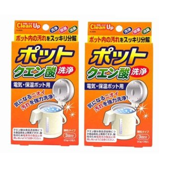 Làm sạch cặn ấm nước Nhật Bản