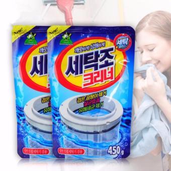 Combo 02 gói bột tẩy lồng máy giặt nhập khẩu nguyên túi từ Hàn Quốc