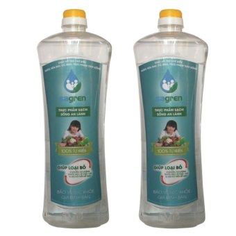 Bộ 2 chai nước rửa rau củ quả Sagren